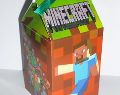 Caixa Milk Estampada Minecraft