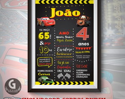 Chalkboard Carros Disney- Arte Digital