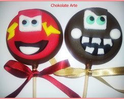 Pirulito de Chocolate Carros