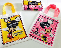 Bolsa Eco bag Minnie e Mickey