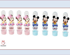 Tubete com aplique minnie e mickey baby