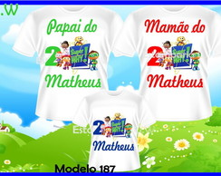 Kit Camisetas Personalizadas Super Why