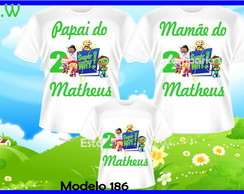 Kit Camiseta Personalizada Super Why