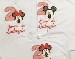 Kit 3 Camisetas Minnie e Mickey