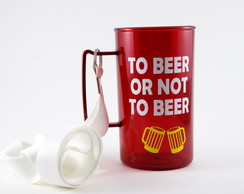 Caneca vermelha To beer or not to beer