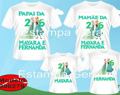 Kit Camisetas Aniversario Frozen Fever