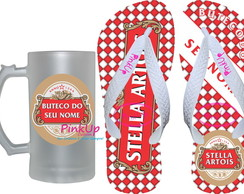 kit Caneca de Chopp + Chinelo Stella