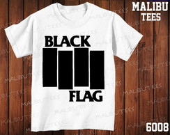 Camiseta Black Flag Rock Bandas Cantor