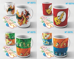 Caneca Pokemon Go Pikachu Charizard Game