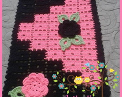 Tapete Chiquetoso Flowes Black Pink