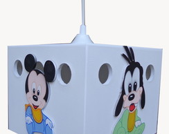 LUSTRE TETO DE MDF TURMA DO MICKEY