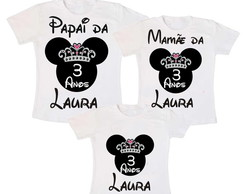 Kit 3 Camiseta Minnie Mouse