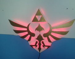 Luminária Triforce Zelda LED