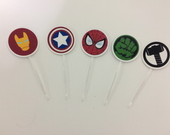 Toppers para doces super herois