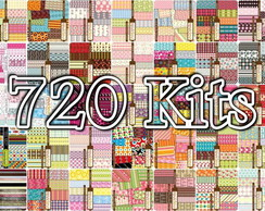 720 Kits Papéis Scrapbook Digital!