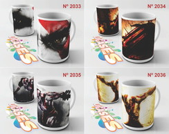 Caneca God Of War 2 3 4 Kratos Game PSN