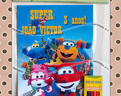 Kit De Colorir Super Wings