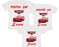Kit 3 Camiseta Carros