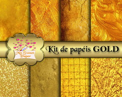 Kit Papel Digital GOLD