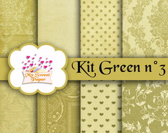 Kit Papel Digital GREEN n°3