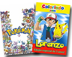 Revista colorir pokemon 14x10