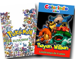 Revista colorir pokémon 14x10