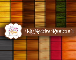 Kit Papel Digital Madeira Rustica