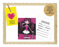 30 Convites Monster High - Papel Grosso