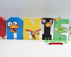 Letra 3D Angry Birds
