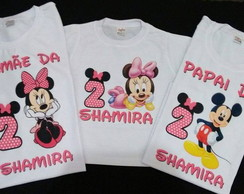 Kit Camiseta Minnie Mickey