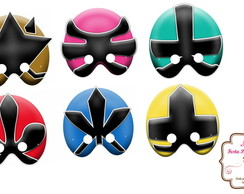 Máscaras Power Rangers Samurai