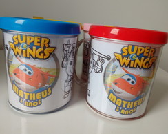 Caneca para colorir Super Wings