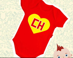 Body Infantil Bebê Chapolin Colorado