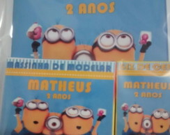 kit para colorir com massinha Minions