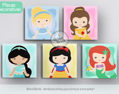 Placas Decorativas Princesas Disney