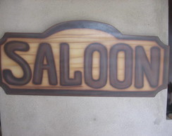 Placa -Saloon