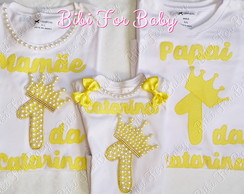 kit Camisetas papai e mamãe Princesa