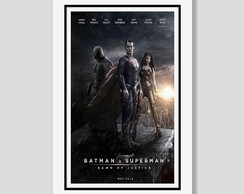 Quadro Batman V Superman 60x40cm Filme