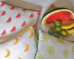 KIT Almofadas Decorativas Frutas