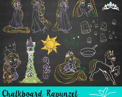 Kit Digital Chalkboard Rapunzel