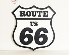 Placa decorativa Route66 MDF
