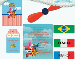 Kit Festa Infantil Super Wings