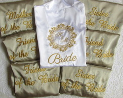 BRIDE ROBE AND BRIDESMAIDS
