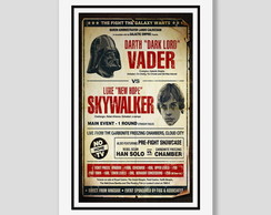 Quadro Star Wars Vader Vs Skywalker
