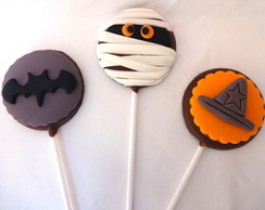 Pirulito de chocolate Hallowen