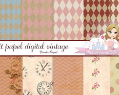 Kit papel digital vintage