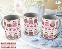 Caneca Matrioskas Rose
