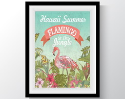 Pôster Flamingo Tropical