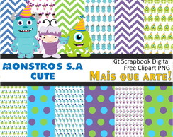 Kit Papel Digital Monstros S.A 01