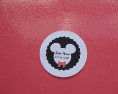 Tag de convite e brinde do Mickey Minnie
